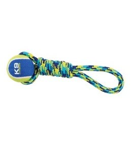 Dog & cat K9 Fitness by Zeus Tennis Ball Rope Tug - 23 cm (9 in)