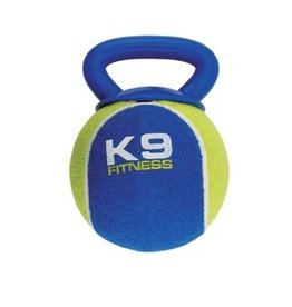 Dog & cat K9 Fitness by Zeus X-Large Tennis Ball with TPR Tug - 12.7 cm dia. (5 in dia.)