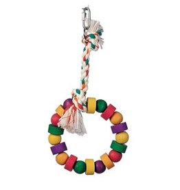 Bird Living World Junglewood Bird Toy, Small Bead and Block Ring