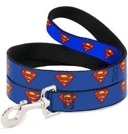 Dog & cat (W) Superman Shield Blue Leash