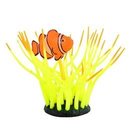 Aquaria UT Glow Action Bubbling Clownfish in Anemone - Yellow