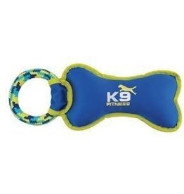 Dog & cat K9 Fitness by Zeus Tough Nylon Bone with Rope Tug - 30.5 cm (12.5 in)