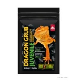 Reptiles Exo Terra Dragon Grub Insect Formula Pellets for Juvenile Bearded Dragons - 250 g