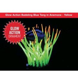 Aquaria Glow Action Bubbling Anemone with Sponge Coral - Orange