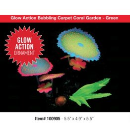 Aquaria UT Glow Action Bubbling Carpet Coral Garden - Green