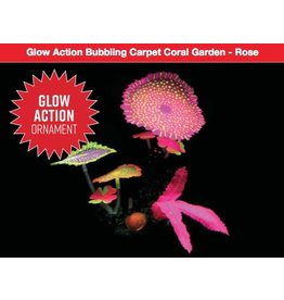 Aquaria UT Glow Action Bubbling Carpet Coral Garden - Rose
