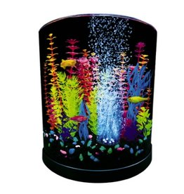 Aquaria GloFish Half Moon with Blue LED Bubbler 3 Gallons