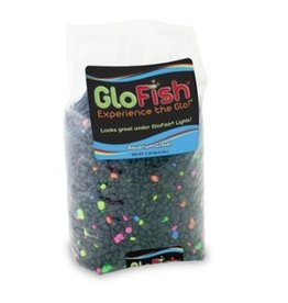 Aquaria GloFish Gravel Black with Fluorescent Highlights 5 LB