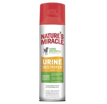 Aquaria Nature's Miracle Dog Stain Urine Destroyer Foam Aerosol 17.5oz