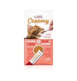Dog & cat Catit Creamy Lickable Cat Treat - Salmon Flavour - 5 pack