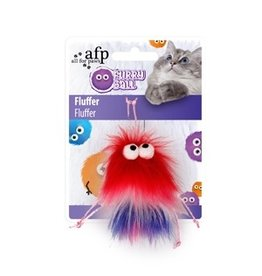 Dog & cat All for Paws - Furry Ball Fluffer - Red