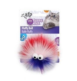 Dog & cat All for Paws - Furry Ball Fluffy - Red