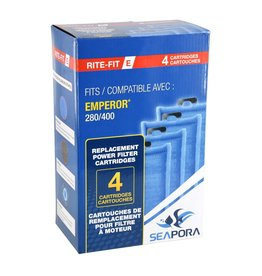 Aquaria (W) Rite-Fit E Cartridges for Emperor® Power Filters - 280/400 - 4 pk