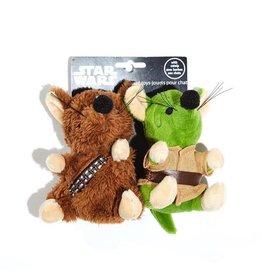 Dog & cat Silver Paw Star Wars Chewbacca and Yoda Mice 2 piece Cat Toy Set