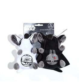 Dog & cat Silver Paw Star Wars Storm Trooper and Darth Vader Mice 2 piece Cat Toy Set