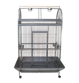 Bird (W) Animal Treasures<br /> Parrot Cage &amp; Stand - Black/Silver - 48&quot; x 32&quot; x 70&quot;