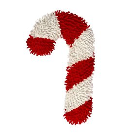 Dog & cat (W) AT X-Mas Plush Dog Toy - Candy Cane - 10""