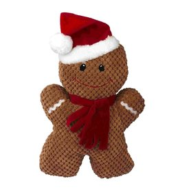 Dog & cat (W) AT X-Mas Plush Dog Toy - Gingerbread Man - 15""