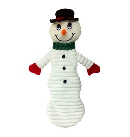 Dog & cat (W) AT X-Mas Plush Dog Toy - Snowman - 12""