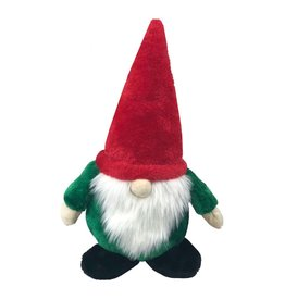 Dog & cat (W) AT X-Mas Plush Dog Toy - Gnome - 13""