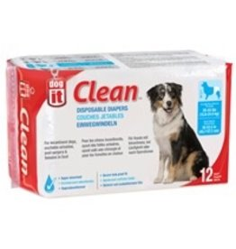 Dog & cat Dogit Diapers - Large - 35-55 lbs and waist 18-22.5 in - 12 pack