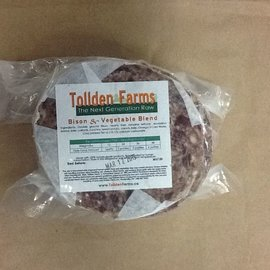 Tollden Farms TF Bison & Vegetable Patties 1lb
