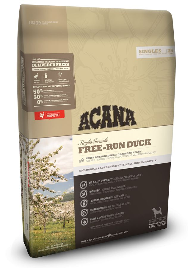 ACANA ACANA *Singles* Free-Run Duck 2kg