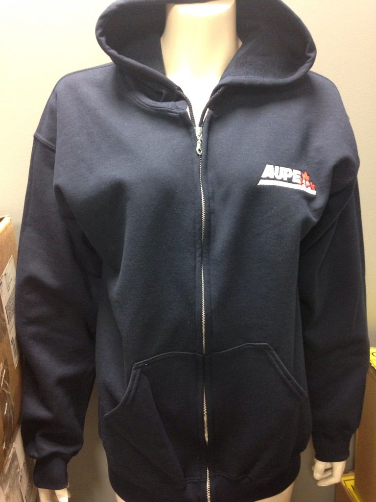 50% cotton 50% polyester Full Zip Hoody