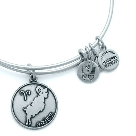 Alex and Ani Alex & Ani Bracelet Aries II Rafaelian Silver Finish