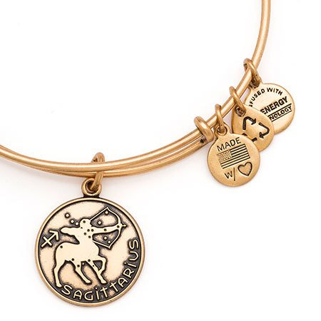 Alex and Ani Alex & Ani Bracelet  Sagittarius II Rafaelian Gold Finish