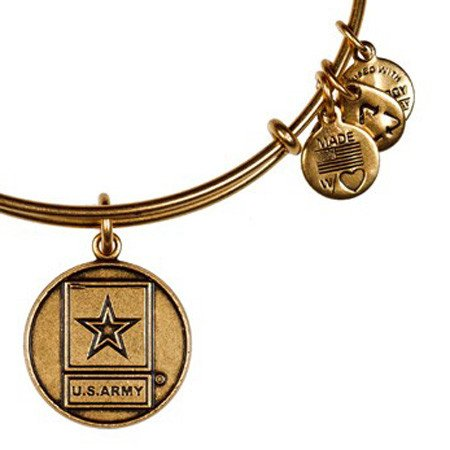 Alex and Ani Alex & Ani Bracelet US Army Rafaelian Gold Finish