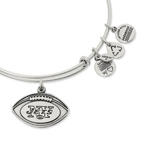 Alex and Ani Alex & Ani Bracelet New York Jets Football Rafaelian Silver Finish