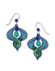Adajio by Sienna Sky Ombre Blue Aqua and Green Figure 8 Earrings 7615