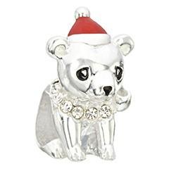 Chamilia Chamilia Bear Hug Holiday Bead  Crystal Swarovski