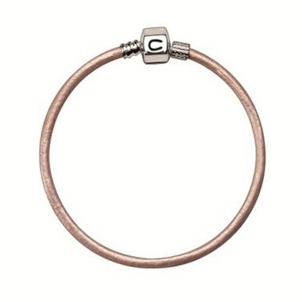 Chamilia Chamilia 7.1 in  Bracelet - Pink Champagne Metallic Leather