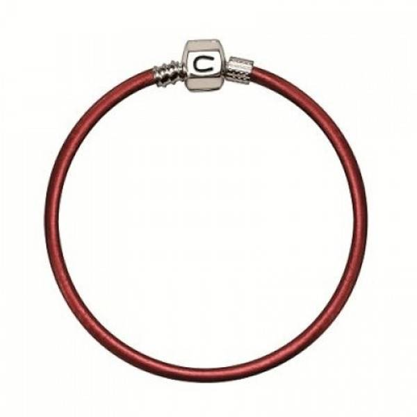 Chamilia Chamilia 7.5 in Bracelet - Persimmon Metallic Leather