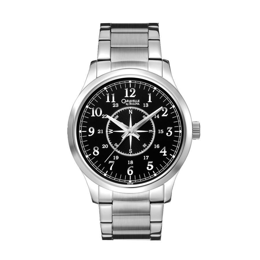 Bulova Mens Watch Bracelet Compass Face