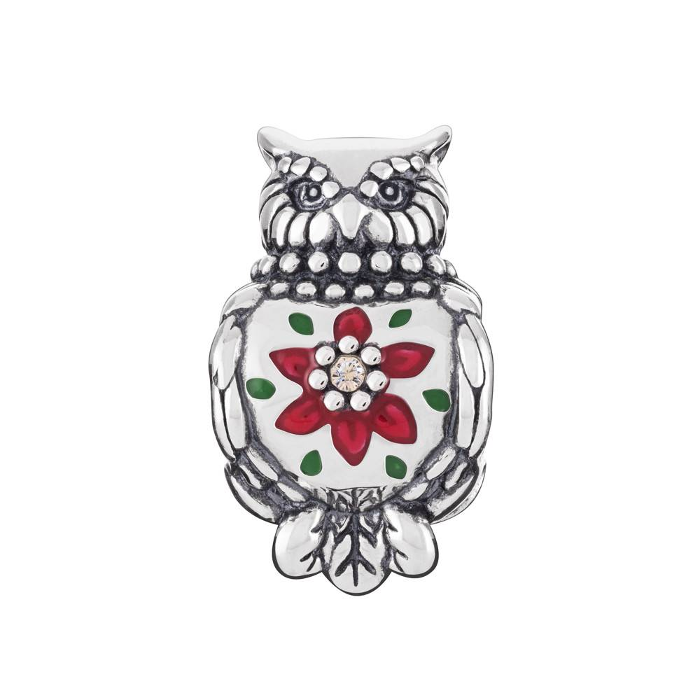 Chamilia Chamilia  Sterling Silver Bead Enameled Owl with Crystals