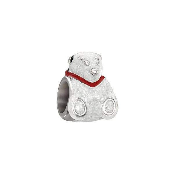 Chamilia Chamilia Sterling Silver Enamel Polar Bear Holiday Bead
