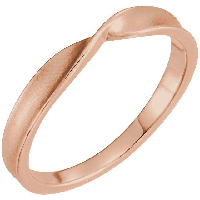 14K Rose Twisted Stackable Ring 7