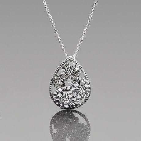 Sterling silver zinnia teardrop pendant necklace heathers jewelry chamilia sterling silver zinnia teardrop pendant necklace aloadofball Image collections