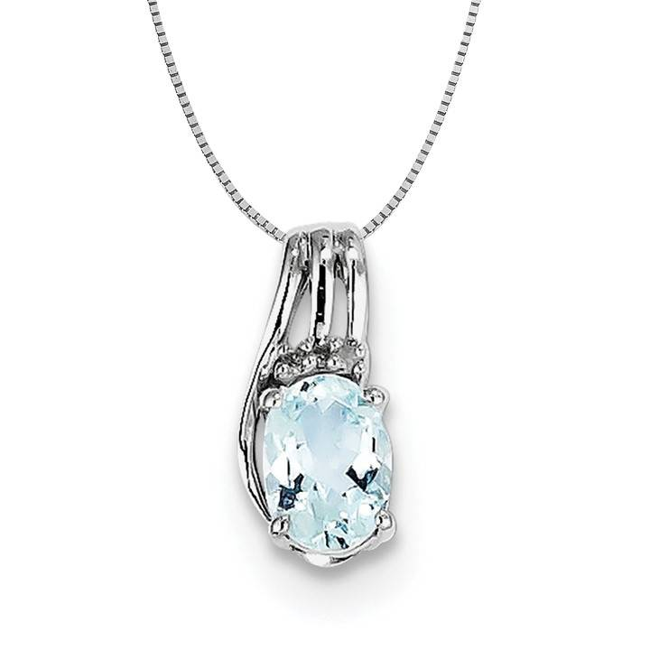 raw nature necklaces gems charm marine womens silver designs necklace aquamarine by b aqua shop