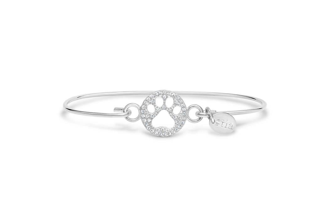 Stia Stia Sterling Silver Cuff PAVE ICON Bracelet - Paw