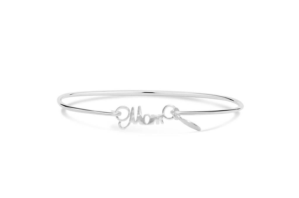 Stia Stia Sterling Silver Cuff SCRIPTED WORDS Bracelet - Mom