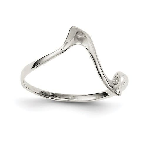 Sterling Silver Thin Wavy Ring Size 6