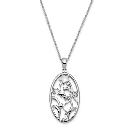graduation pendant sterling silver oval star expression may your life be filled with unexpected blessings""