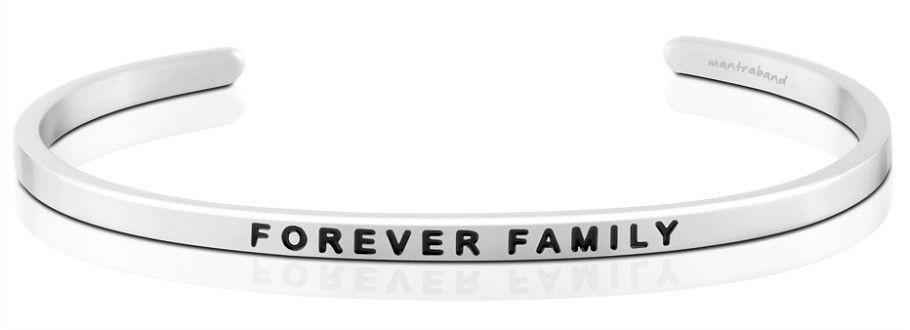 Mantra Bracelet : Forever Family , Stainless Finish