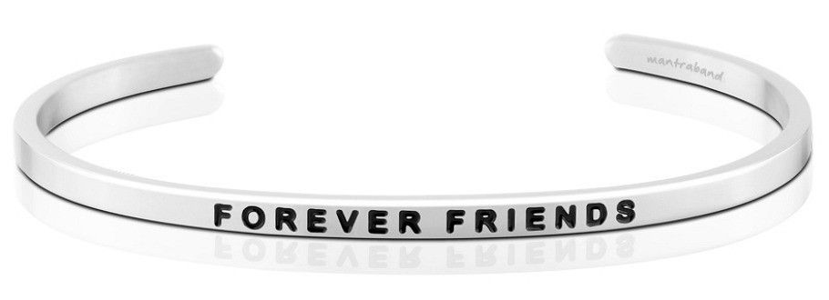 Mantra Bracelet : Forever Friends , Stainless Finish