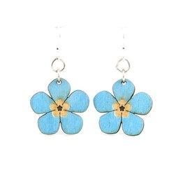 Green Tree Earrings Wood-The Awesome Blossoms