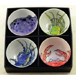 Rice Bowls (4pc Set)-Ocean Creatures
